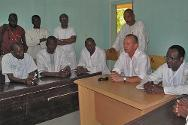 Gao Hospital, Mali. Jean-Nicolas Marti, head of the ICRC delegation that covers Mali, at a meeting with hospital management.