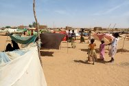Refugees from Mali live in makeshift shelters near the village of Chinagodrar, Tillabery region, Niger.