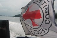 Niger Delta, Nigeria. The ICRC boat heads for the creeks.