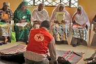 Jos, Plateau State, Nigeria, May 2012. Community members attend a Nigerian Red Cross first-aid course.