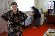 Chechnya. Petimat, a beneficiary of the Russian Red Cross home visits programme.