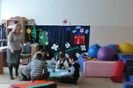 Psycho-social support centre, Beslan, North Ossetia, Russian Federation. Children play in the centre's playroom.