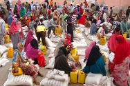 Mogadishu, Somalia. ICRC distributes basic food aid to highly vulnerable people.