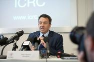 ICRC president Peter Maurer during a press conference after his trip to Syria