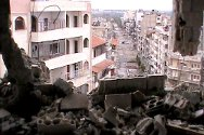 Homs, Syria. Damaged buildings.
