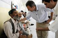 ICRC president Peter Maurer during a visit to the Kabul physical rehabilitation centre in August 2012.