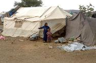Sa'ada, Yemen. Displaced people in a camp.