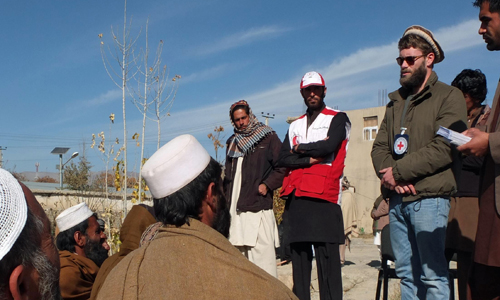 ICRC interpreter Charlie Gammell in Afghanistan
