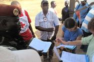 Aerodrome in Sam Ouandja. Exchange of certificates signed between Séléka and the ICRC.