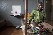 DR Congo. A war-wounded patient in a health-care centre in North Kivu. In DR Congo, attacks against health-care structures and medical evacuation teams are unfortunately all too common.