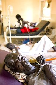 South Sudan, Malakal Teaching Hospital. A patient smiles for the camera at the hospital where ICRC provides paediatric and physiotherapy services as well as trauma and emergency surgical care.