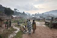 DR Congo. Camp for displaced people in North Kivu