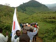 South Kivu. Three out of four adults had to be carried on stretchers and all children on the backs of the volunteers.