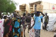 May 2013. The ICRC distributed food and other items to over 4,000 displaced people in Jonglei state