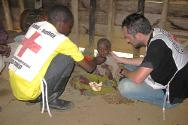 South Kivu. After three days of walking the children, ill and severely malnourished, could go no further and stopped to have a rest in a church in Miranda.