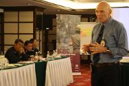 The ICRC's specialist on police and security forces for the region, John-Erik Jensen, discussed various tenets of law enforcement throughout the four-day seminar. Here, he explains how the ICRC works with police forces around the world.