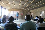 Walikale, North Kivu. Managers of water points are trained following the ICRC's repair of the water supply system in the area.