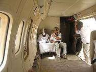 Tissi airfield, Sila region. Final 'thumbs up' in the plane before a patient is evacuated to the regional hospital in Abéché.