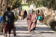 Patients, visitors and staff come and go in a never-ending hubbub of activity at Mirwais Hospital, Afghanistan.