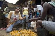 Colombia, Nariño department. An agronomist visits people who have received maize seeds through an ICRC farming programme.