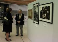 """Guests at the ICRC Mission in Australia's """"150 years of humanitarian action: ICRC from 1863 to 2013"""" photographic exhibition launch at the High Court in June."""