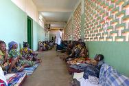 People injured in the recent clashes are treated at the community hospital in Bangui.