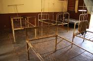 Kaga Bandoro. Kaga Bandoro hospital -- empty beds  where mattresses were looted. The hospital has a 73-bed capacity.
