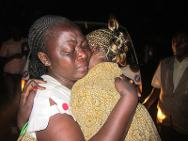 Lubumbashi, Katanga province. A mother rejoices after being reunited with her daughter after six years of separation.