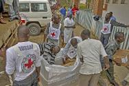 ICRC staff deliver surgical supplies to Bukavu Hospital, to enable the hospital to cope with any sudden influx of serious casualties.