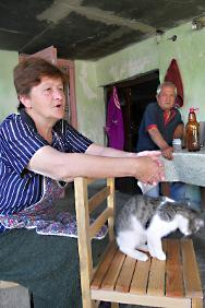 Elene Gablishvili, who was able to renovate one of her rooms with a grant from the ICRC.