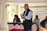 Dr. Raed Abu Rabi explaining global best practices to participants of the Healthcare in Detention Seminar, held in Jammu on 23-24 September, 2013