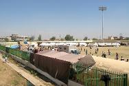 Bardarash temporary camp (Dohuk gov) was established in the football stadium by the authorities, with the support of the UNHCR, until the completion of a bigger camp in Gawilan village near Bardarash.