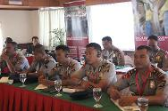 ICRC seminar about International Policing Standards and Human Rights, attended by officers of the Indonesian National Police's Mobile Brigade (Brimob).
