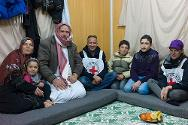 Al-Zaatari refugee camp. Mohammad is finally together with his family again.