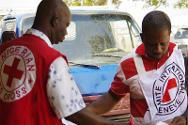 ICRC and NRCS personnel on a joint operation.