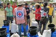 Through the emblem, Red Cross workers are identified with providing neutral and impartial humanitarian assistance to victims of armed conflicts.