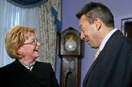 ICRC president Peter Maurer meets Russian minister of health Veronika Skvortsova.