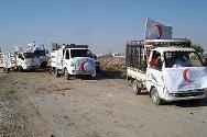 An SARC convoy on its way to deliver food to inmates of the central prison.