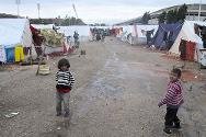 Camp for displaced people in Lattakia