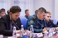 Participants at the First International Conference on Humanitarian Demining. The conference was organized by the ICRC, together with the Russian Ministry of Emergency Situations and the Civil Defence Academy of the Russian Ministry of Emergencies.