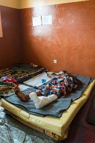 The recent violence that hit the west part of the Central African Republic has left at least 25 wounded. Patients recovering in the trauma unit after surgery.