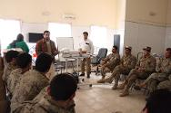 Afghanistan. South of the country, Helmand province, Lashkar Gah. Afgan army soldiers receive first aid training from the ICRC.