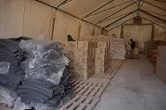 Afghanistan. South of the country, Helmand province, Lashkar Gah, ICRC office. The warehouse stores emergency medical kits, food, shelter and sanitation material.