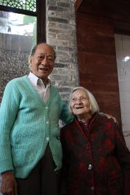 Brother, Lui Shi-ang, and sister, Lui Yao-xun, apart for 74 years, reunite at last.