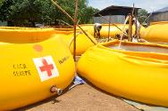 Ethiopia. ICRC water treatment point in the town of Itang, near Gambella.