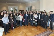 The closing ceremony took place in the Grand Salon of the ICRC's headquarters.