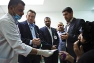 ICRC president Peter Maurer meets patients and staff at the ICRC-supported primary health centre.