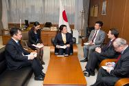 ICRC director of operations Pierre Krähenbühl thanked the Japanese vice-minister of defense for supporting the ICRC, Krähenbühl also presented the ICRC's outlook for 2014.
