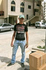 Sixteen-year old Abdulhadi was shot in the leg by a sniper during recent clashes in Tripoli.