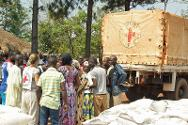 The ICRC has distributed maize, beans, salt and oil to over 4,500 people at this location.